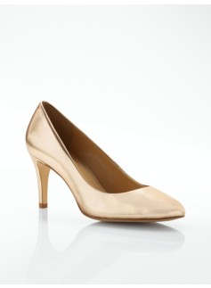 Nori Metallic Leather High-Heel Pumps