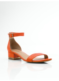 Parisi Exotic-Boa Ankle-Strap Sandals