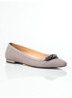 Raegen Suede Chain-Topped Flats