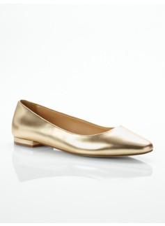 Rumi Metallic Leather Flats