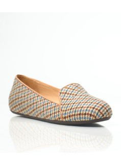 Zoe Plaid Flannel Piped Flats