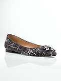 Renata Tweed Rhinestone-Topped Flats