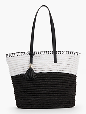 Crocheted Paper Straw Tote