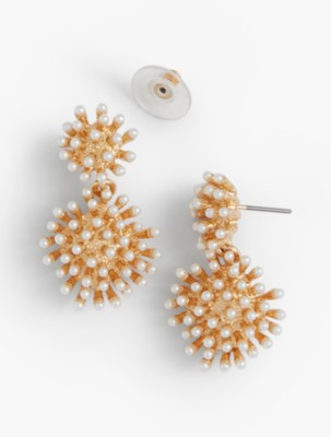 Vintage Style Jewelry, Retro Jewelry Talbots Womens Starburst Drop Earrings $29.50 AT vintagedancer.com