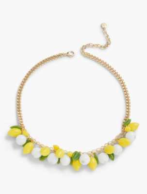 Vintage Style Jewelry, Retro Jewelry Talbots Womens Lemon Bead Necklace $59.50 AT vintagedancer.com