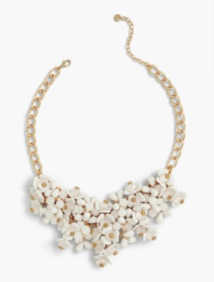Vintage Style Jewelry, Retro Jewelry Talbots Womens Cascading Flowers Necklace $89.50 AT vintagedancer.com