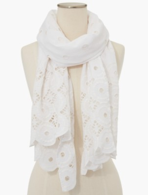 Vintage Scarf Styles -1920s to 1960s Talbots Womens Circle Eyelet Scarf $64.99 AT vintagedancer.com