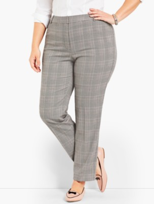 Vintage High Waisted Trousers, Sailor Pants, Jeans Talbots Womens Womans Exclusive Talbots Hampshire Straight Ankle Glen Plaid $129.00 AT vintagedancer.com