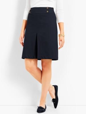 1960s Style Skirts Talbots Womens Raised Twill Pleated A Line Skirt $59.99 AT vintagedancer.com
