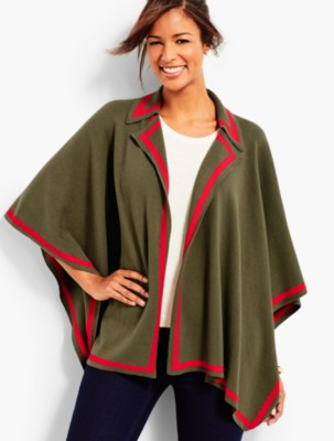 Retro Vintage Style Coats, Jackets, Fur Stoles Talbots Womens Notched Collar Milano Wrap $99.00 AT vintagedancer.com