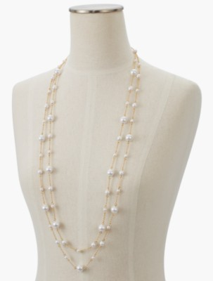 1920s Jewelry Styles History Talbots Womens Pearl Illusion Necklace $49.50 AT vintagedancer.com