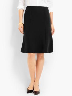 1930s Style Skirts : Midi Skirts, Tea Length, Pleated Talbots Womens Seasonless Crepe Skirt $89.99 AT vintagedancer.com
