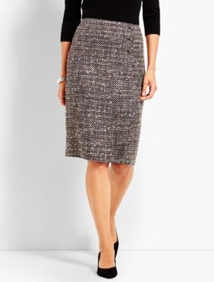 Retro Skirts: Vintage, Pencil, Circle, & Plus Sizes Talbots Womens Confetti Tweed Wrap Pencil Skirt $99.50 AT vintagedancer.com