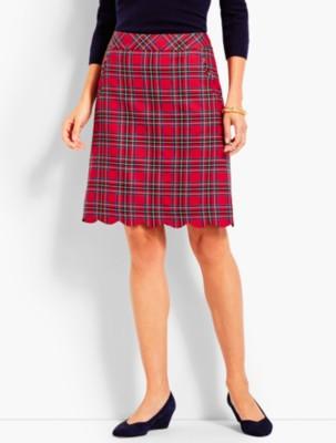Retro Skirts: Vintage, Pencil, Circle, & Plus Sizes Talbots Womens Plaid A Line Skirt $59.50 AT vintagedancer.com