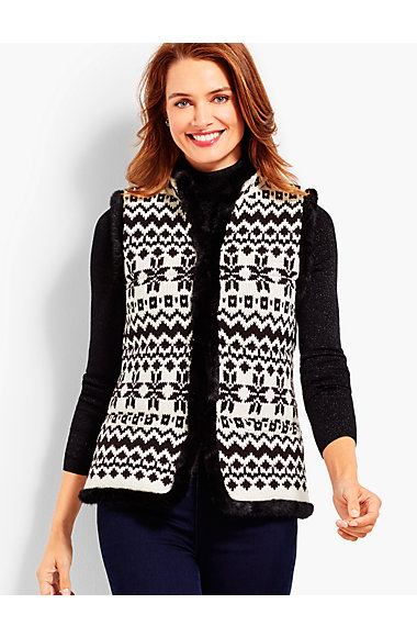 Artic Fair Isle Quilted Vest | Talbots
