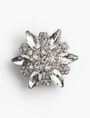 1920s Jewelry Styles History Talbots Womens Crystal Starburst Brooch $49.50 AT vintagedancer.com