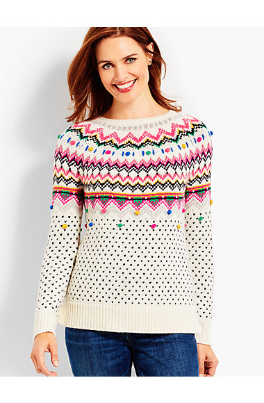 Carnival Fair Isle Sweater | Talbots