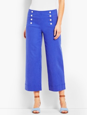 Vintage High Waisted Trousers, Sailor Pants, Jeans Talbots Womens High Waist Wide Crop $79.50 AT vintagedancer.com