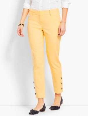 60s – 70s Pants, Jeans, Hippie, Bell Bottoms, Jumpsuits Talbots Talbots Hampshire Ankle Pant Button Cuff $94.99 AT vintagedancer.com