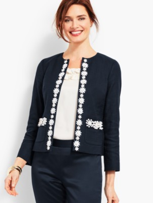 Vintage Coats & Jackets | Retro Coats and Jackets Talbots Womens Hand Beaded Jacket $153.30 AT vintagedancer.com