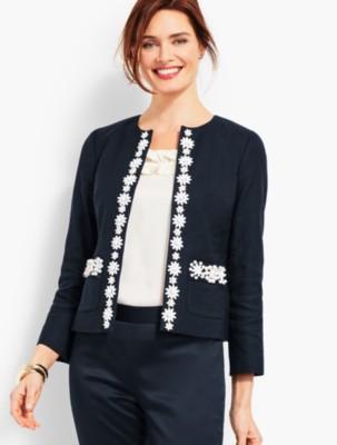 1950s Jackets and Coats | Swing, Pin Up, Rockabilly Talbots Womens Hand Beaded Jacket $153.30 AT vintagedancer.com