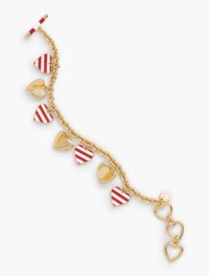 1940s Costume Jewelry: Necklaces, Earrings, Brooch, Bracelets Talbots Womens Hearts Charm Bracelet $34.50 AT vintagedancer.com