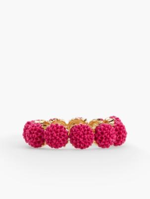 Vintage Style Jewelry, Retro Jewelry Talbots Womens Carved Flower Stretch Bracelet $29.99 AT vintagedancer.com