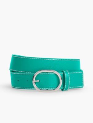 Vintage Wide Belts, Cinch Belts Talbots Womens Pebble Leather Belt $49.50 AT vintagedancer.com