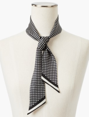 Vintage Scarf Styles -1920s to 1960s Talbots Womens Boxed Gingham Mini Scarf $17.15 AT vintagedancer.com