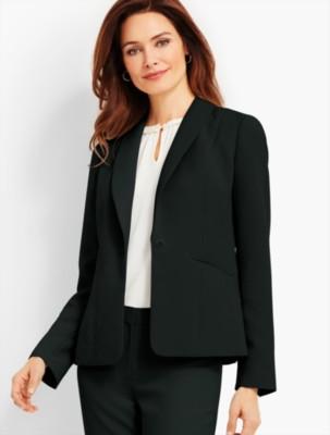 Vintage Suits Women | Work Wear & Office Wear Talbots Womens Seasonless Crepe Blazer $179.99 AT vintagedancer.com