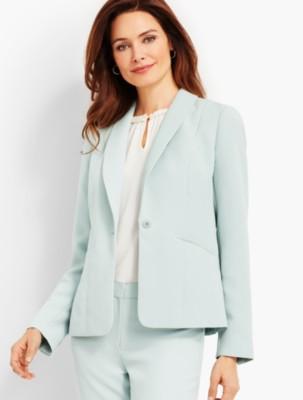 Vintage Suits Women | Work Wear & Office Wear Talbots Womens Seasonless Crepe Blazer $104.99 AT vintagedancer.com