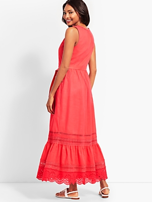 4ee4b6108c9 Pintucked Tiered-Hem Gauze Maxi Dress. Added to Shopping Bag. Dresses. ‹ ›