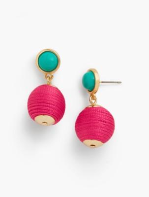 60s -70s Jewelry – Necklaces, Earrings, Rings, Bracelets Talbots Seed Bead Drop Stud Earrings $24.99 AT vintagedancer.com