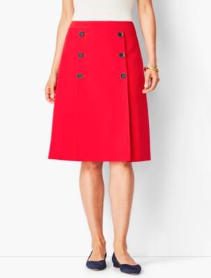 60s Skirts | 70s Hippie Skirts, Jumper Dresses Talbots Twill A Line Skirt $79.99 AT vintagedancer.com