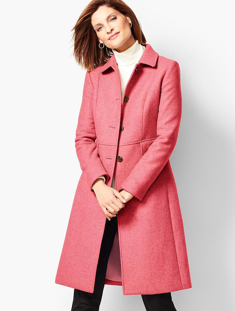 Vintage Coats & Jackets | Retro Coats and Jackets Talbots Melton Stadium Coat $329.00 AT vintagedancer.com