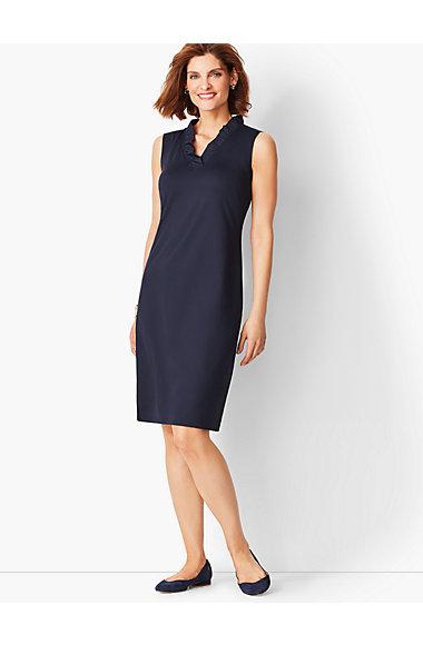 Feminine Knit Jersey Dress Talbots