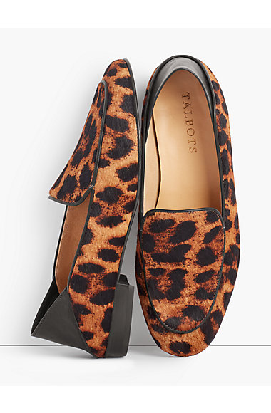 Cassidy Collapsible Flats - Haircalf Leopard