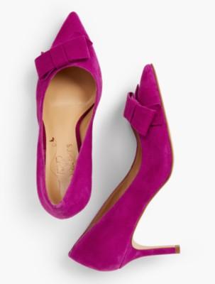 1950s Style Shoes | Heels, Flats, Saddle Shoes Talbots Erica Bow Pumps $119.25 AT vintagedancer.com