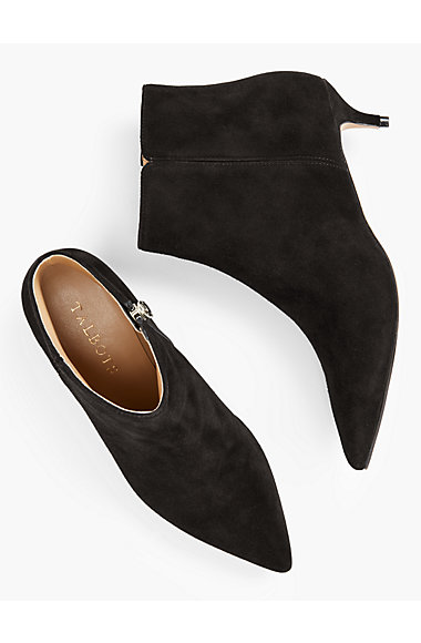 Iona Kitten-Heel Ankle Boots