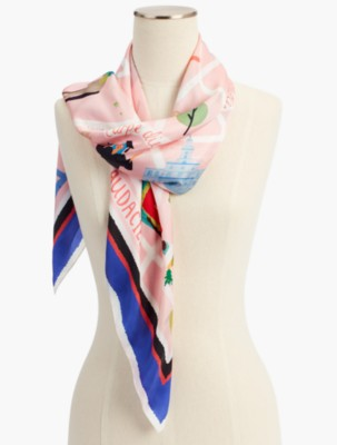 Vintage Scarves- New in the 1920s to 1960s Styles Talbots Annie Davidson Scarf $69.50 AT vintagedancer.com
