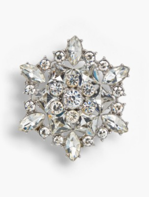 1930s Jewelry | Art Deco Style Jewelry Talbots Holiday Brooch Collection Large Snowflake $15.99 AT vintagedancer.com