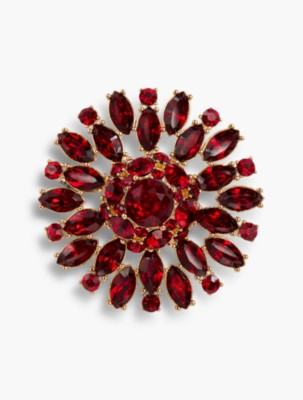 1950s Jewelry Styles and History Talbots Holiday Starburst Collection Starburst Brooch $13.99 AT vintagedancer.com