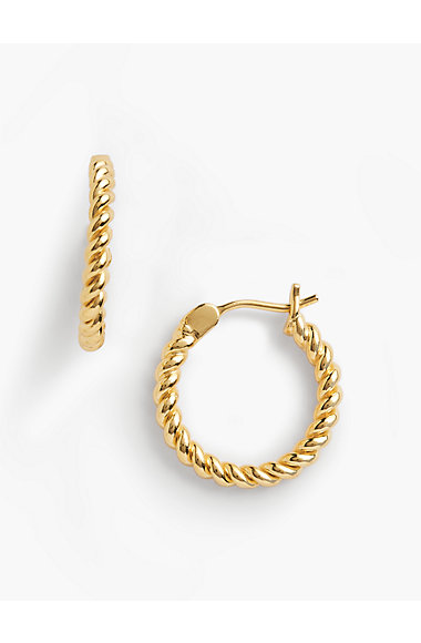 Rope Earrings 14k Gold Plated