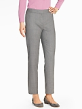 Italian Flannel Pinstripe Tailored Ankle Pant