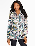 Watercolor Paisley Button-Front Shirt