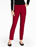 Talbots Hampshire Ankle Pant - Flocked Polka Dots