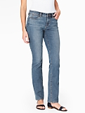 The Flawless Five-Pocket Straight Leg Jean - Curvy/Barge Wash