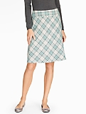 Sleigh Ride Plaid Circle Skirt