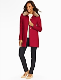 Faux Fur-Trimmed Gramercy Short Coat