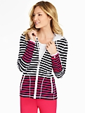 Stripe French Terry Hoodie